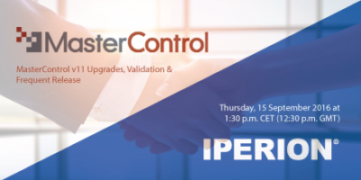 co-operation between MasterControl and Iperion